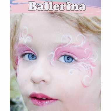 Ballerina schminken schminkset carnavalskleding valkenswaard