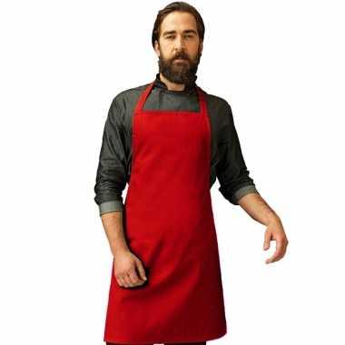 Barbecue keukenschort volwassenen rood carnavalskleding valkenswaard