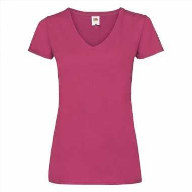 Roze Carnavalskleding Dames.Basic Dames T Shirt V Hals Roze Carnavalskleding Valkenswaard