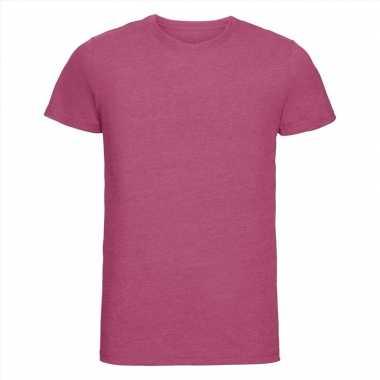 Basic heren t shirt ronde hals roze carnavalskleding valkenswaard