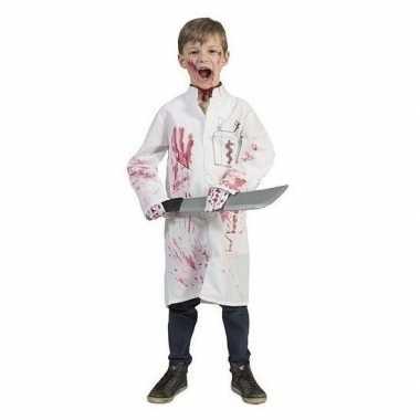 Bebloede doktersjas kinderen maat carnavalskleding valkenswaard