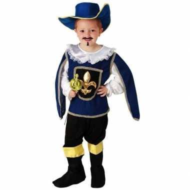 Blauw musketiers carnavalskleding jongens valkenswaard