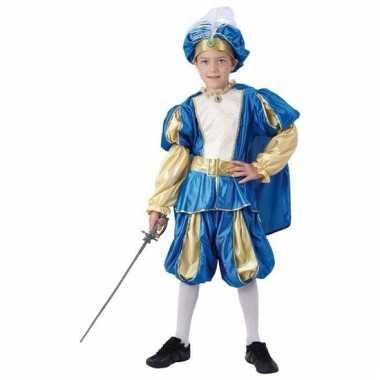 Blauw prinsen carnavalskleding jongens valkenswaard