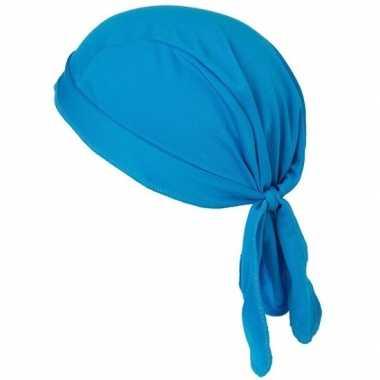 Blauwe bandana volwassenen carnavalskleding valkenswaard