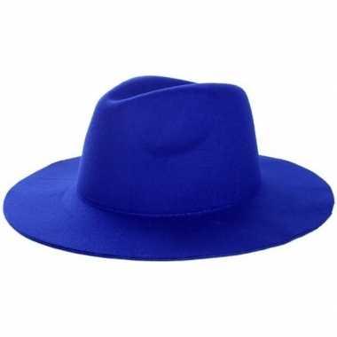 Blauwe cowboyhoed volwassenen carnavalskleding valkenswaard