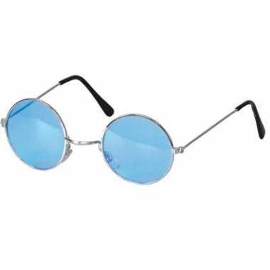 Blauwe hippie bril carnavalskleding valkenswaard