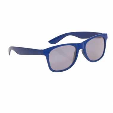Blauwe kinder feest zonnebril wayfarer carnavalskleding valkenswaard
