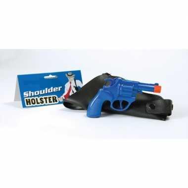 Blauwe nep pistool detective carnavalskleding valkenswaard