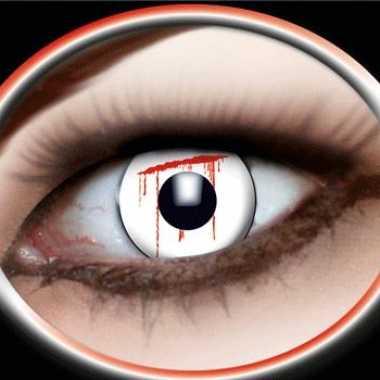 Bloedende ogen kleurlenzen carnavalskleding Valkenswaard