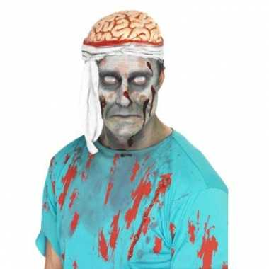 Bloederige brains hoedje carnavalskleding valkenswaard