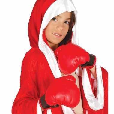 Bokser verkleed hanschoenen rood kinderen carnavalskleding valkenswaa