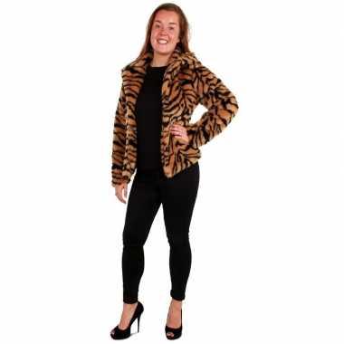Bontjas tijger print dames carnavalskleding valkenswaard