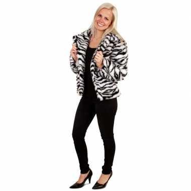 Bontjas zebra print dames carnavalskleding valkenswaard