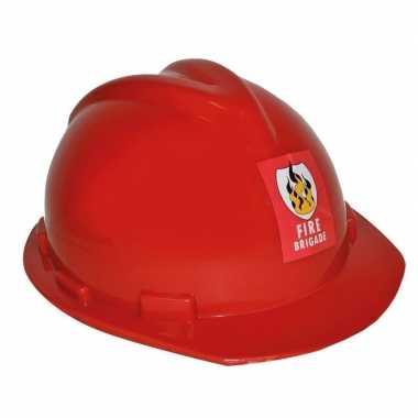 Brandweerhelm verstelbaar verkleed accessoire volwassenen carnavalskl