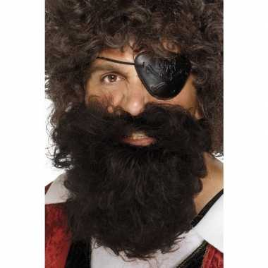 Bruine piraten baard heren carnavalskleding valkenswaard