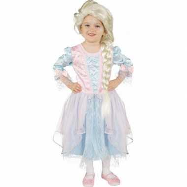 Carnaval carnavalskleding lichtblauw roze prinses jurk valkenswaard
