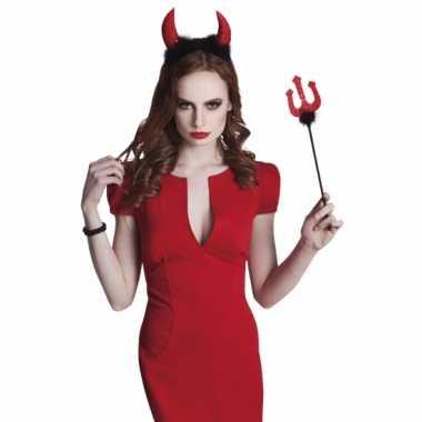 Carnaval duivelssetje hoorns drietand carnavalskleding valkenswaard
