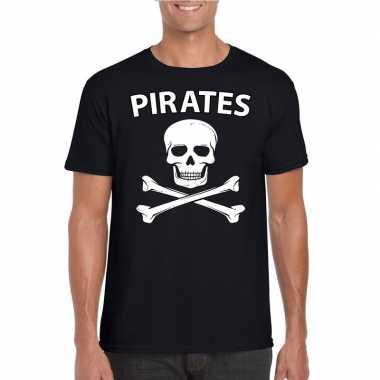 Carnavalskleding piraten shirt zwart heren valkenswaard