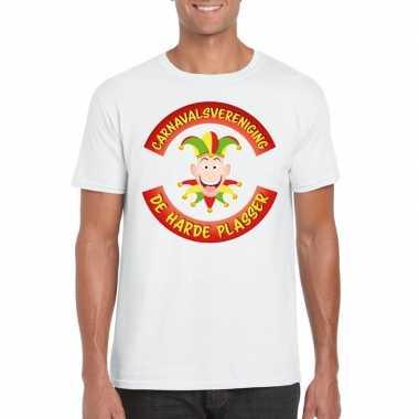 Carnavalsvereniging harde plasser limburg heren t shirt wit carnavals