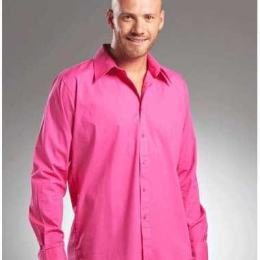 Roze Overhemd.Casual Fuchsia Roze Overhemd Manhatten Carnavalskleding Valkenswaard