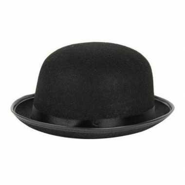 Charlie chaplin/laurel hardy verkleed hoedje zwart volwassenen carnav