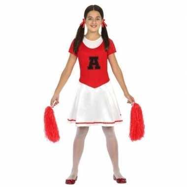 Cheerleader jurk/jurkje verkleed carnavalskleding meisjes valkenswaar