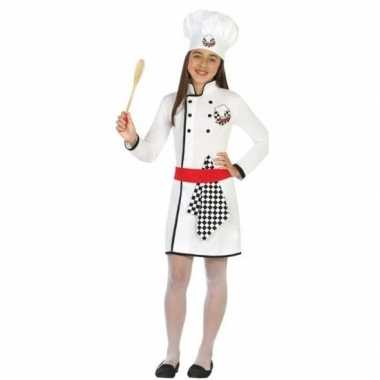 Chef kok verkleed carnavalskleding/jurk meisjes valkenswaard