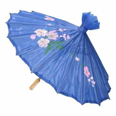 Chinese stijl paraplu blauw