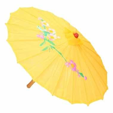 Chinese stijl paraplu groot geel