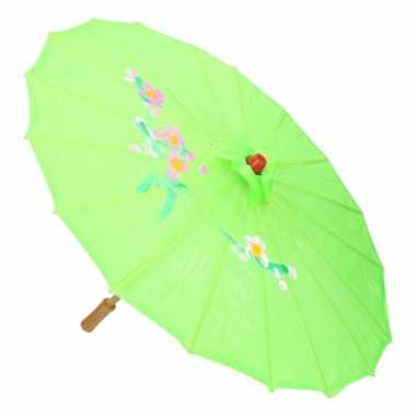 Chinese stijl paraplu groot groen