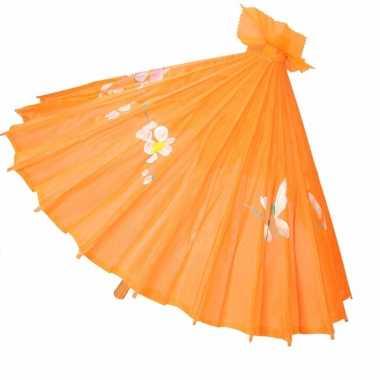 Chinese stijl paraplu groot oranje