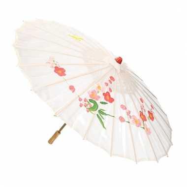 Chinese stijl paraplu groot wit carnavalskleding valkenswaard