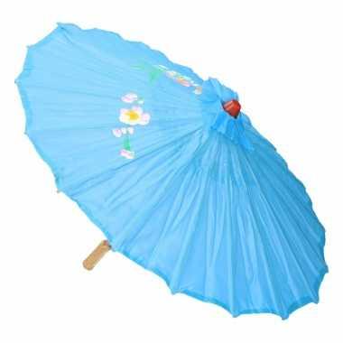 Chinese stijl paraplu licht blauw carnavalskleding valkenswaard