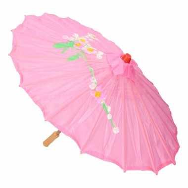 Chinese stijl paraplu roze carnavalskleding valkenswaard