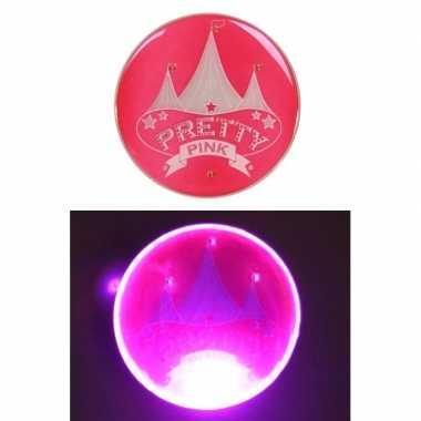 Circus button pretty pink licht carnavalskleding valkenswaard