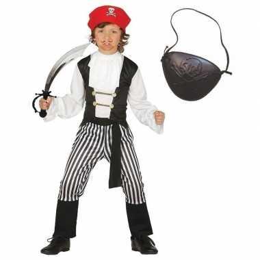 Compleet piraten carnavalskleding maat kinderen valkenswaard