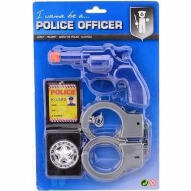 Complete politie speelgoed set jongens meisjes carnavalskleding valke