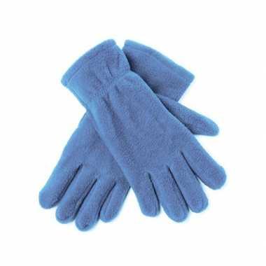 Dames fleece handschoenen lichtblauw carnavalskleding Valkenswaard