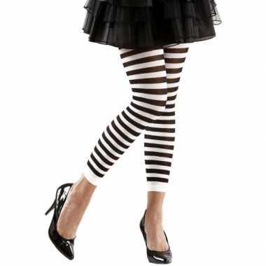 Dames legging wit zwart carnavalskleding Valkenswaard