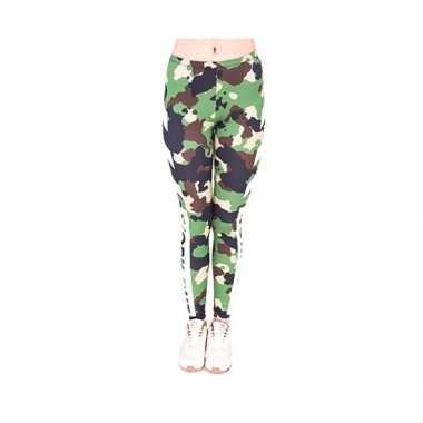 Dames party legging camouflage print carnavalskleding valkenswaard