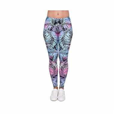 Dames party legging hawaii bloemen print 10099186