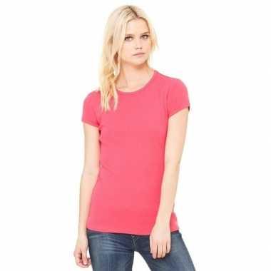 Roze Carnavalskleding Dames.Dames T Shirtjes Skinny Hanna Fuchsia Roze Carnavalskleding