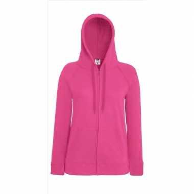 Damescarnavalskleding roze vest capuchon valkenswaard