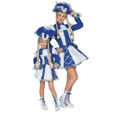 Dansmarieke carnavalskleding blauw meiden Valkenswaard