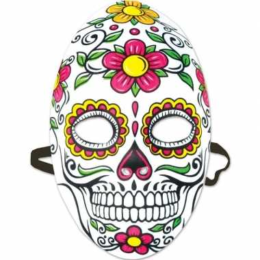 Day of the dead sugarskull gezichtsmasker dames carnavalskleding valk