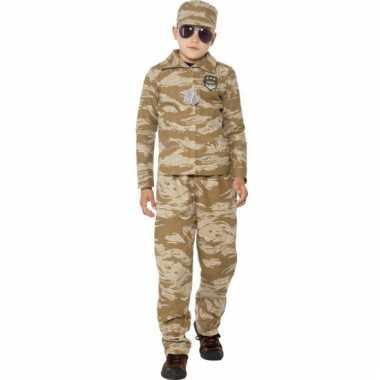 Desert camouflage carnavalskleding kinderen Valkenswaard