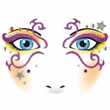 Dieren gezicht sticker prinses carnavalskleding valkenswaard