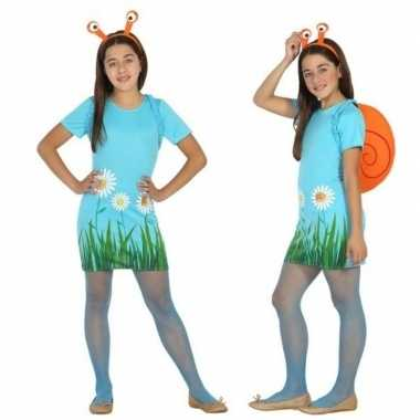 Dieren verkleed jurk/jurkje slak/slakken meisjes carnavalskleding val