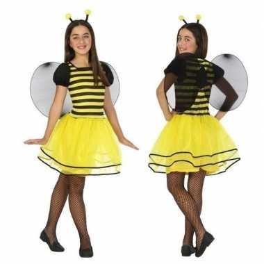 Dierencarnavalskleding bij/bijen verkleed jurk/jurkje meisjes valkens