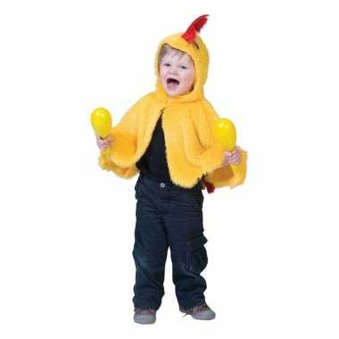 Dierencarnavalskleding geel kipje/haantje kinderen valkenswaard